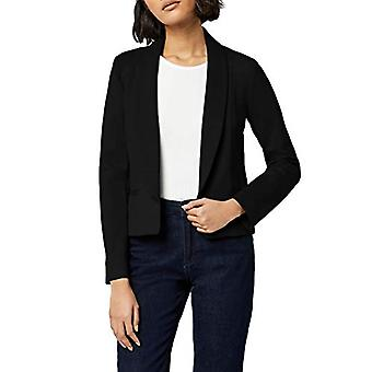 MERAKI Women's Shawl Collar Fitted Blazer, Black, EU XS (US 0-2)