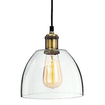 Firstlight Empire - 1 Pendentif de plafond léger laiton antique, verre transparent, E27