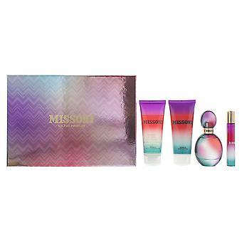 Missoni Eau de Parfum 50ml, EDP 10ml, Shower Gel 100ml & Body Lotion 100ml Set