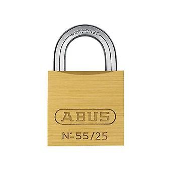 ABUS 55/25mm Brass Padlock Carded ABU5525C