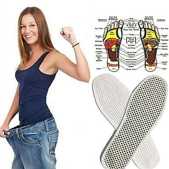 Magnetic Therapy Silicone Insoles Transparent Weight Loss Slimming Insole