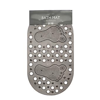 Country Club Oval PVC Bath Mat, Grey