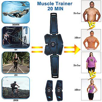 Abdominal Muscle Stimulator Trainer EMS Abs Fitness Equipment Training Gear Muscles Electrostimulator Toner Exercise At Home Gym USB Charge