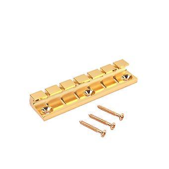 6 String Fixed Metal Gitarre Brücke für E-Gitarre mit Schraube Gold