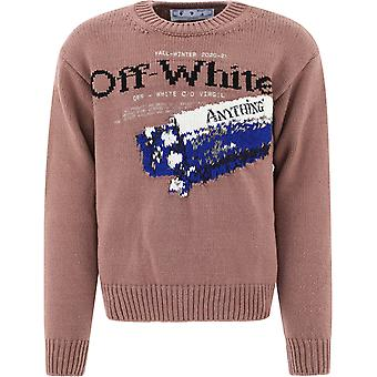 Off-white Omhe054f20kni0016010 Mænd's Brown Wool Sweater