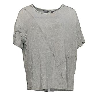 Lisa Rinna Collectie Women's Top Printed Gray A353890