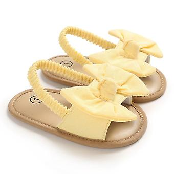 Baby Bow Knot Sandals, Cute Summer Soft Sole Flat Princess Shoes