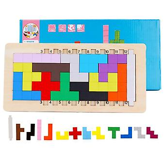 3d Wooden Color Building Blocks-puzzle Jouet
