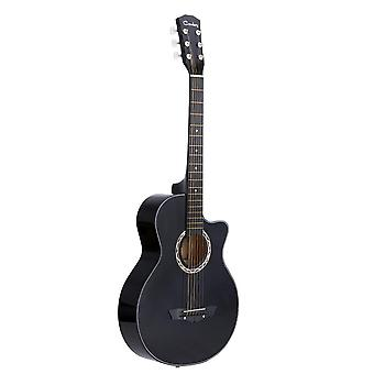 "38"" Acoustic Folk Guitar, Basswood, 6-string Guitar For Students"