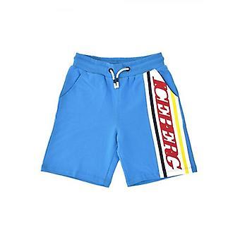 Iceberg Kids Light Blue Jersey Shorts