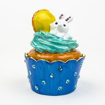 Rabbit On Cupcake Trinket Box
