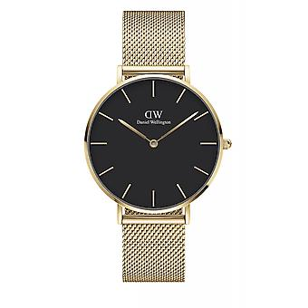 Daniel Wellington DW00100345 Petite Evergold Black Dial Gold Tone Wristwatch