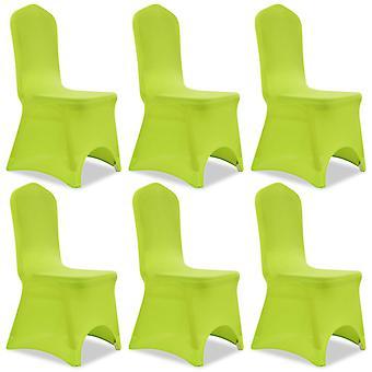 Stretch chair cover 6 pieces green