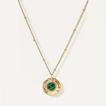 Fine gold and malachite gold necklace