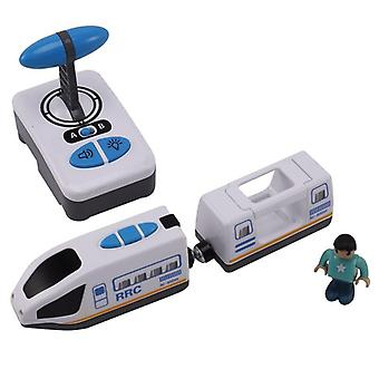 Electric Rc Remote Control Train Blue And White Car For Toy (white Blue)