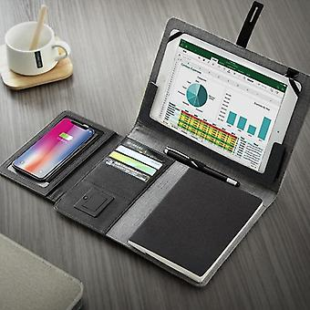 Business Travel Bag, Padfolio Notebook With Power Bank, Battery Charger Wire