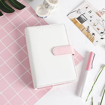 Ring Diary, Leather Cover Case, Handbook For Office, Personal Binder, Weekly