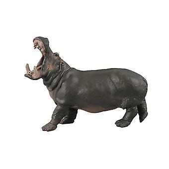 Hippopotamus Model Plastic Hippo Playset Realistic Hand Painted Toy Animal Figurine Model