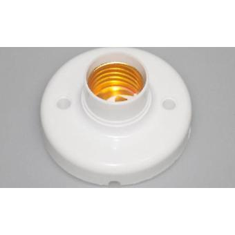Base With Hole For Wire, Screw Light Bulb Lamp Socket Holder, White Base Lamp