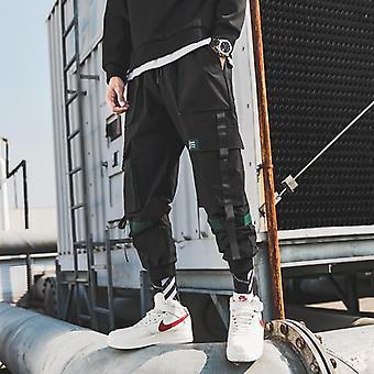 Mænd Bånd Streetwear Cargo Bukser Efteråret Hip Hop Joggers