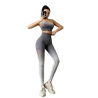 Sport suit Set Vrouwen naadloze running trainingspak workout