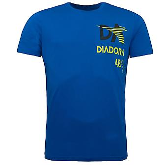 Diadora Royal Blue Sleeved Crew Neck Mens T-shirt 60085
