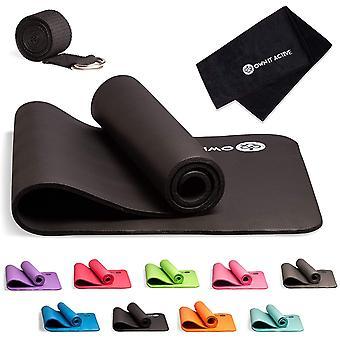 Harlington Group Exercise Mat + Yoga Belt + Sweat Towel Set - 180cm X 60cm X 1cm