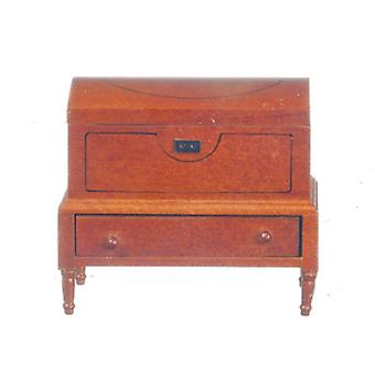 Dolls House Miniature Bedroom Furniture Lincoln Dome Chest Ottoman 745