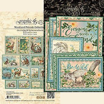 Graphic 45 Woodland Friends Ephemera & Journaling Cards