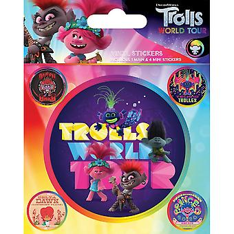 Trolls World Tour Change The Record Vinyl Stickers (Pack of 5)