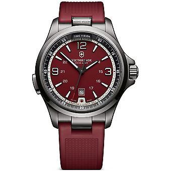 Victorinox Swiss Army 241717 Night Vision Black & Red Men's Chronograph Watch