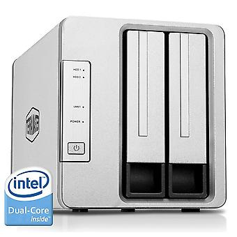 Terramaster f2-221 nas 2bay cloud storage intel dual core 2.0ghz plex media server network storage (