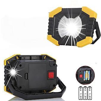 Luz de trabalho ajustável de 180 graus, 100w led com bateria embutida