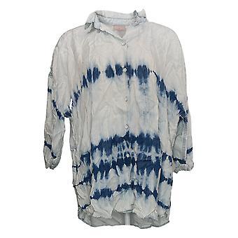 Laurie Felt Women's Top Tye Dye Painter Shirt Blue A379356