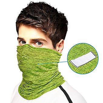 Unisex Seamless Face Mask Scarf With Filter Pocket For Outdoor Cycling