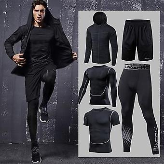 Men's Tracksuit Gym Fitness Compression Sports Suit Clothes Running Jogging