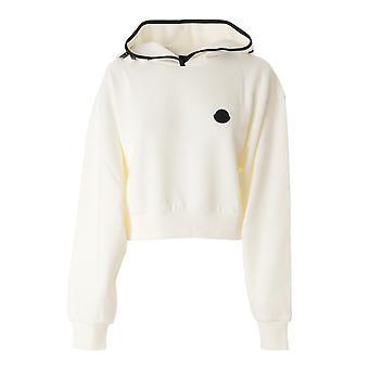 Moncler 8g78710809lc032 Mujer's Sudadera de algodón blanco