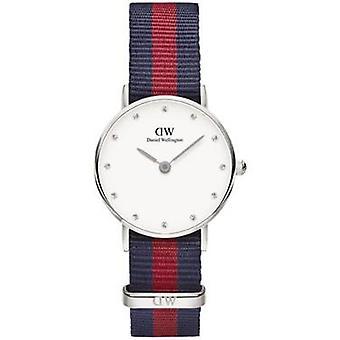 Daniel Wellington 0925DW Classy Bristol White Dial Brown Leather Ladies Watch