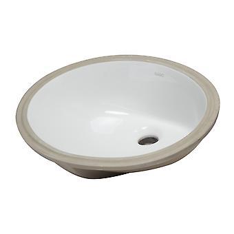 "Eago Bc224 White Ceramic 18""X15"" Undermount Oval Bathroom Sink"