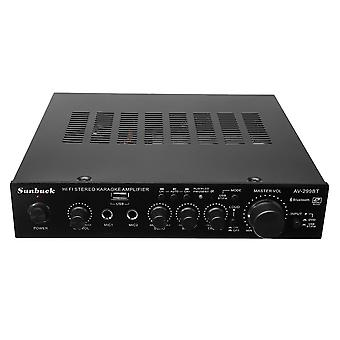Sunbuck AV-299BT 200W HIFI bluetooth Stereo Power Amplificator telecomandă USB FM Mic intrare