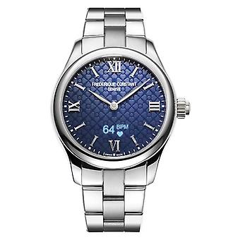 Frederique Constant Womens | Vitality | Smartwatch | Blue Dial | Stainless Steel FC-286N3B6B Watch