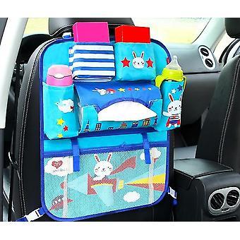 Bolso de almacenamiento de asiento trasero y protector de asiento con estampado de dibujos animados