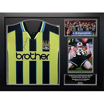 Manchester City Dickov Camiseta firmada (Enmarcado)