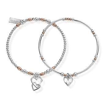 ChloBo Rose Gold And Silver Double Devotion Set Of 2 MBSET572732