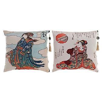 Kudde Dekodonia Polyester Japanska (45 x 45 cm) (2 st)