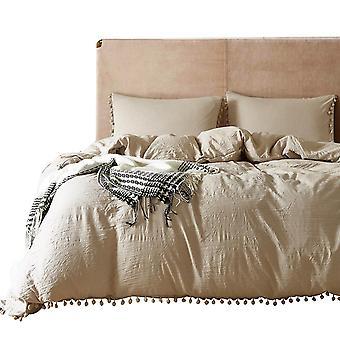 Solid Color Quilt Cover Pillowcase Set