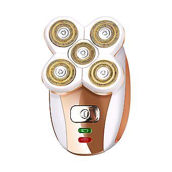 Mini 5 Huvud 3 i 1 elektrisk epilerare för kvinnor ansiktshårborttagning