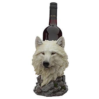 Koristeellinen valkoinen unelma walker suojelija pohjoisen susi pullonpidike
