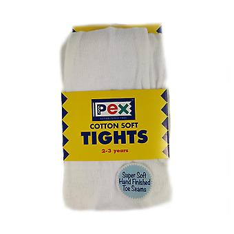 Pex puuvilla pehmeät sukkahousut valkoinen