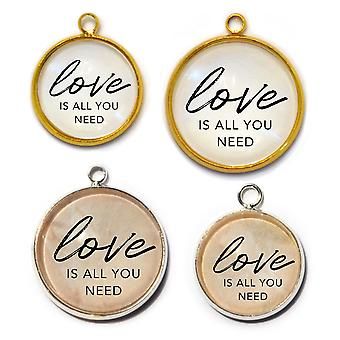 Love Is All You Need – Charm For Jewelry Making, 16 Or 20mm